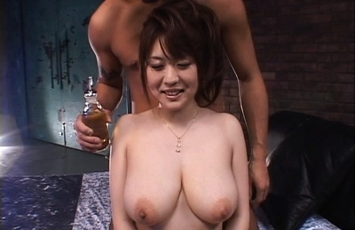 Big Asian Tits Oiled and Fucked