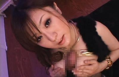 Nasty Asian Nana Aoyama Eats Cum