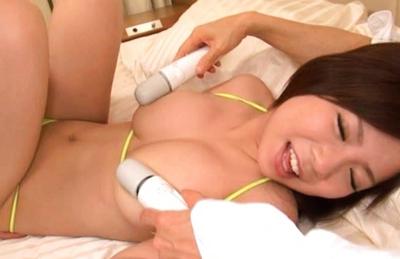 Konatsu Aozora is a horny Japanese chick with big tits who likes fucking hard