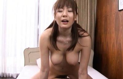 Yuma Asami Hot Asian gal with big tits enjoys hard sex