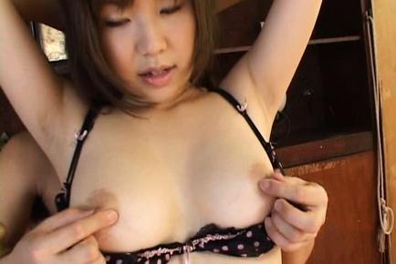 Miu Harunaga Japanese doll has big hooters to show off