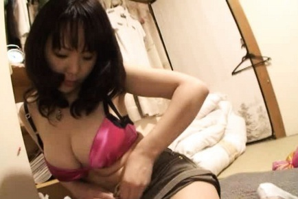 This big titted Asian amateur sure loves the company of a nice stiff cock