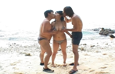 Rin Aoki Pretty Asian Girl On The Beach Has A Gangbang Of A Day