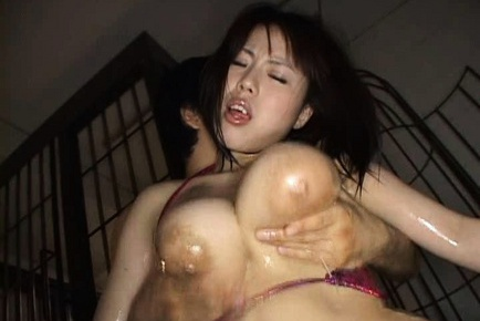 Rin Aoki Asian model has nice big tits to fondle