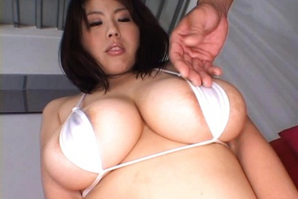 Sexy Asian Rin Aoki really loves titty fuck with a big dildo.