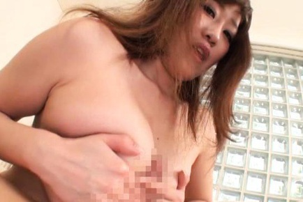 Big titted MILF Rin Yunoki gives a blowjob in POV