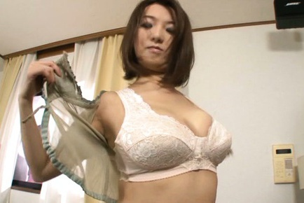 Busty japanese  Mio Takahashi enjoys young cock