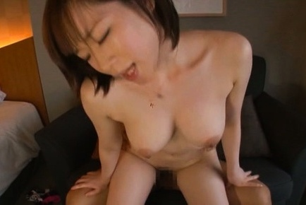 Superb amateur Michiru enjoys a huge cock