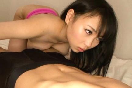 Busty Asian cock tease Akane Yoshinaga pleases her lover