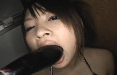 Ayumi Ayukawa Pretty Asian model has a nice pair of big tits and wet pussy