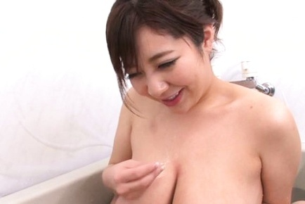 Japanese beauty shows her boobs for fuck