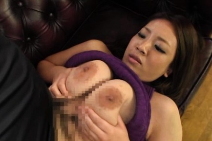 Lustful Japanese milf with huge tits Conomi enjoys titty fucking