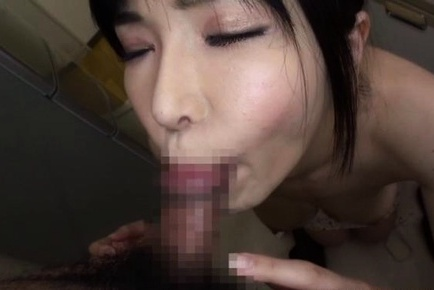 Amateur milf Anri Okita housewife gives a great tit fuck