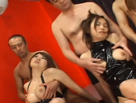 Emir Ruka Mirei Japanese orgy with three hot models