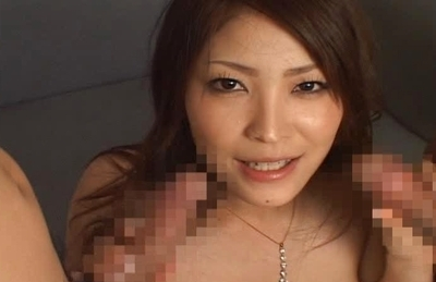 Kokomi Sakura Hot Asian model has sex in a threesome