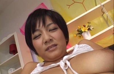 Meguru Kosaka Asian babe enjoys her adult toys