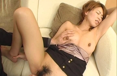 Koharu Asian doll gets her tits fucked