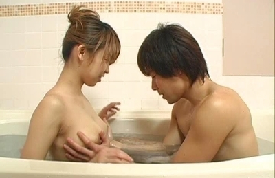 Koharu Hot Asian doll sucks cock in the bath